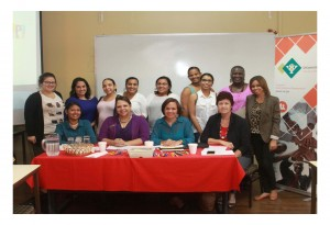 "AHRA Members contributed to the ""Social Work Campaign in observance of World Social Work Day"" at the University of Aruba on March 17, 2015"